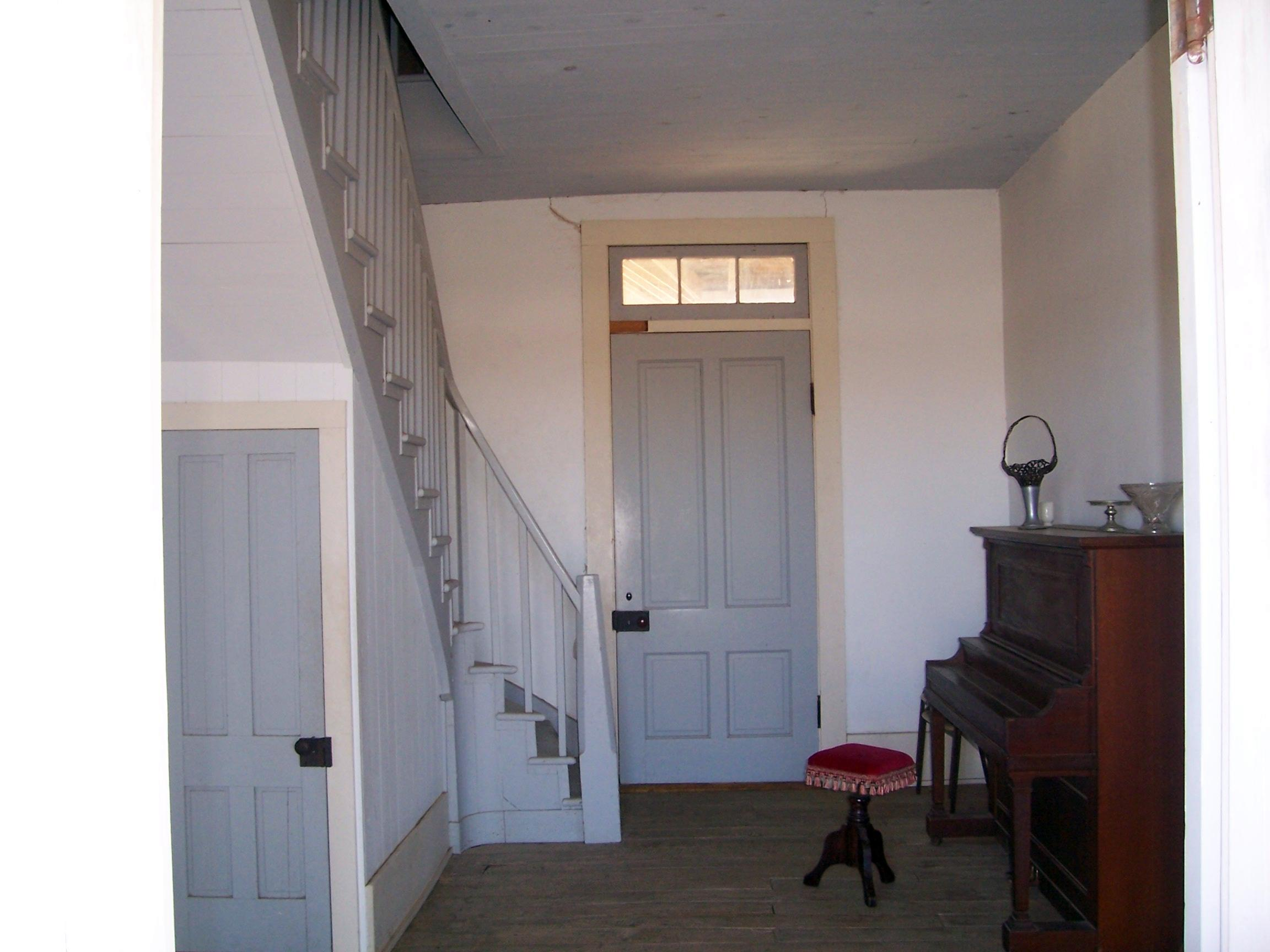 Inside the officers Quarters