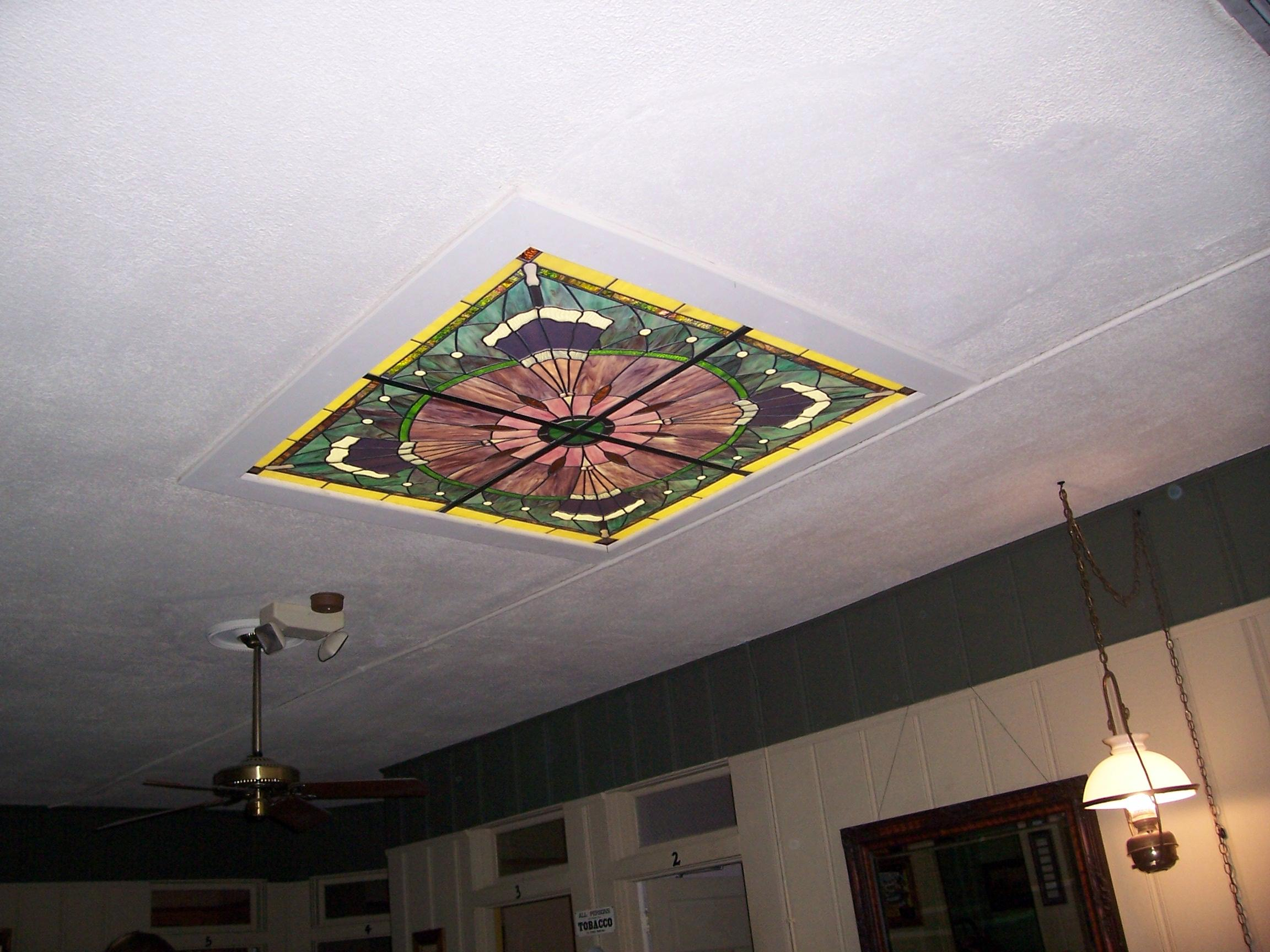 Stained glass in the ceiling