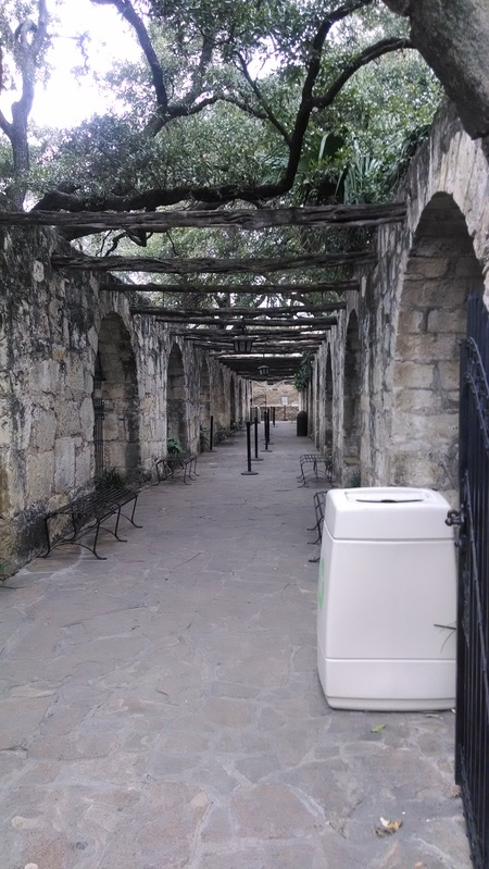 A side entrance to the Alamo