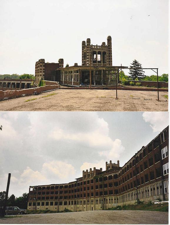 Rear and roof of Waverly Hills Building