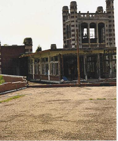 Roof rooms and on Waverly Hills Building