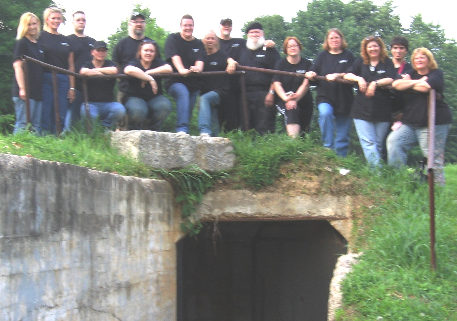 "Diepart group pic over ""death tunnel"""